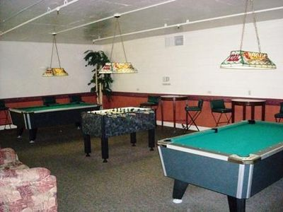 Indoor Billiards, Ping Pong, Gym & Sauna complement outdoor Jacuzzi & Swimming!
