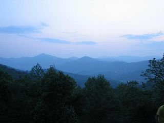 Blowing Rock cottage photo - Evening view from backyard. The Blue Ridge Mountains at their best!
