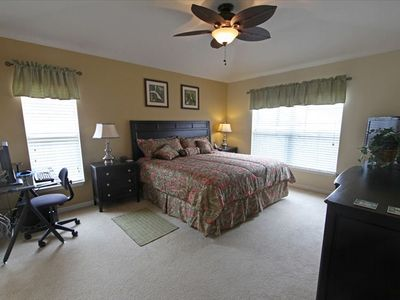 "Master Suite With 32"" TV and Computer"