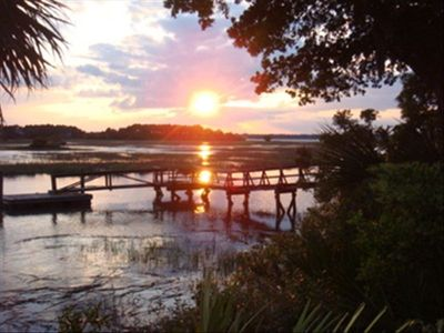 Sunset Views and Dock for Fishing or Crabbing