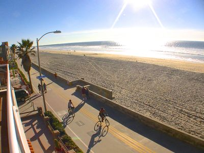 View from the 40' Ocean Front Balcony of Mission Beach and the Famous Boardwalk