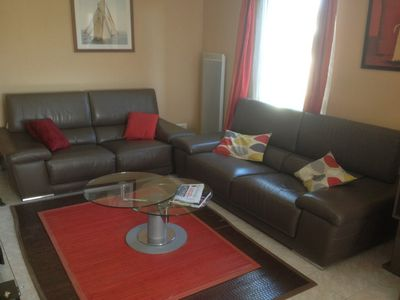 Accommodation near the beach, 85 square meters, with garden