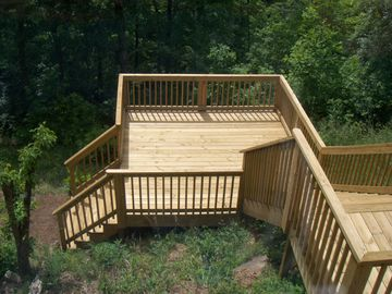 Our new lower deck to walking trail