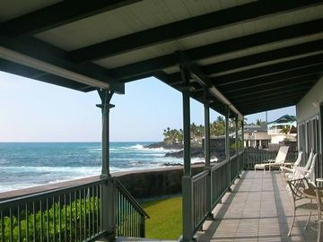 You will never want to leave this lanai. This is the whale watching spot!