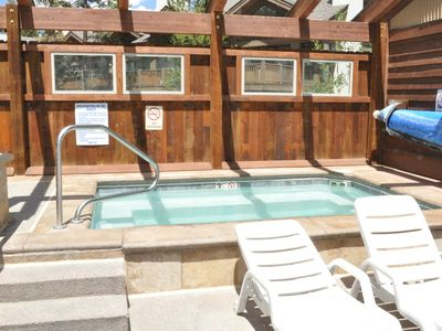 Upper Village outdoor hot tubs