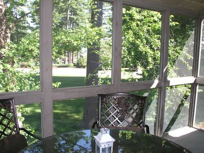 Views of the Samoset property from the screened-in porch.