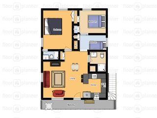 South Padre Island house photo - Upper unit Floor plan