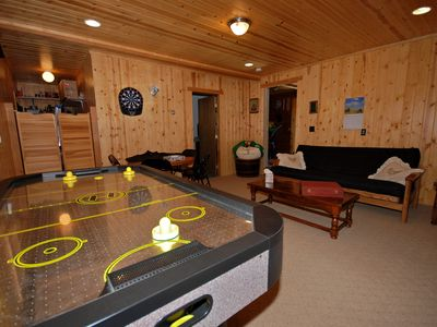 Game Room with Air Hockey, toys and games for all!