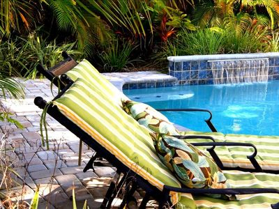 Relax and enjoy a truly lovely pool area with solar heated water.