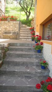stairs between house and capanno