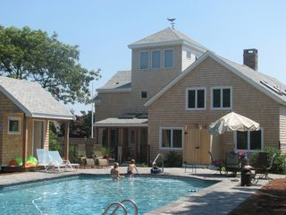 New Seabury house photo - Relax or splash in private backyard 20x40' pool