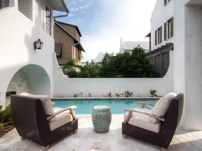Enjoy the tranquility of a private pool which is now gated child safety and plenty of outdoor seating.