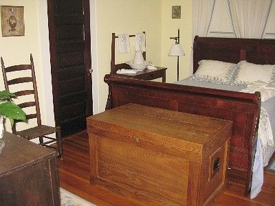 Bedroom one, with queen sleigh bed