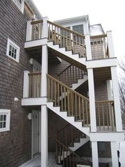 Provincetown condo photo - Access stair at rear of building