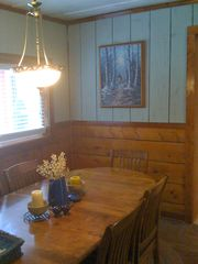 Black Hawk cabin photo - Dining Room with seating for 8.
