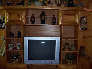 Gatlinburg cabin photo - Entertainment center in den, also a TV with DVD also tv's in each bedroom