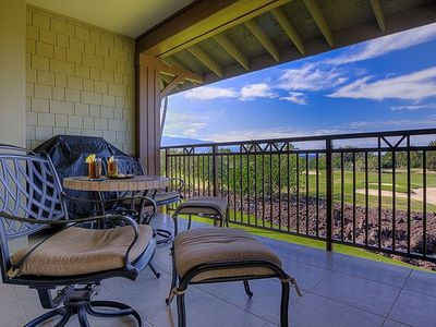 Relax on the lanai with a cool drink while you grill dinner and admire the view
