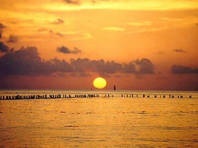 Watch the magnificent sunsets over the Gulf of Mexico!