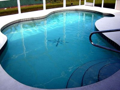 Saltwater Pool with very spacious lanai