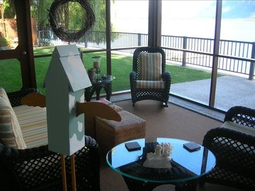 screened lakeside porch