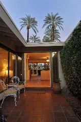 Rancho Mirage house photo - Front courtyard entryway with new tropical landscape!