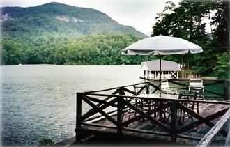 View of Bald Mountain from Our Boat House