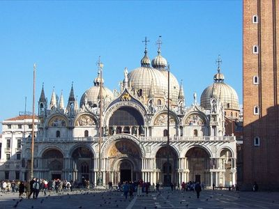 St. Mark's Square, the basilica. You do not see this from the apartment!