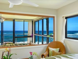 Poipu condo photo - ONLY A PORTION OF YOUR 160deg SURF VIEW FROM THE PRICACY OF YOUR KING SIZE BED.
