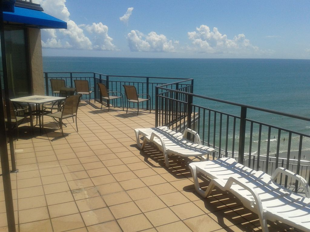 Paradise Found 3 3 Oceanfront Penthouse Homeaway Garden City Beach