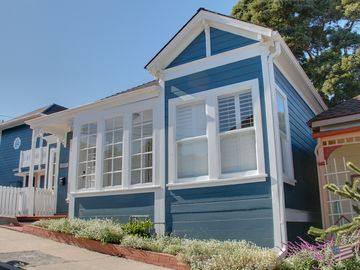 "Pacific Grove house rental - Welcome to ""Ocean Blue House""! Beautifully remodeled historic Victorian home. Ocean views! Easy walk to gourmet restaurants and unique shops."