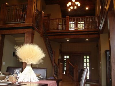 Deer Valley house rental - View of entry from great room and stairs.