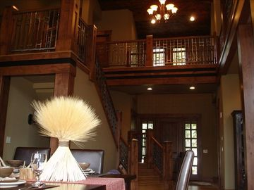 View of entry from great room and stairs.