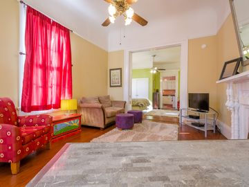 Lower Garden District house rental - Your Beautiful Space, And View From Your Mario Villa Desk!