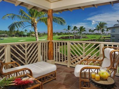 Enjoy sunrises and sunsets in this romantic lanai off the master bedroom