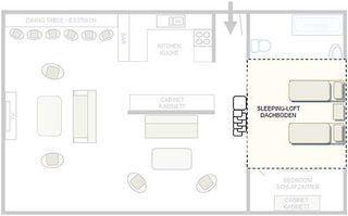 Reykjavik apartment photo - Floorplan for mezzanine / sleeping loft