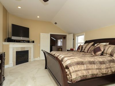 Master Suite is over 800 ft2 of luxury with HD flat screen and fireplace.