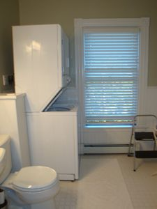 Camden apartment rental - laundry and half bath
