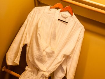 Robes & slippers for our guests