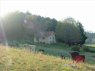 Farmhouse with beautiful river and pasture views