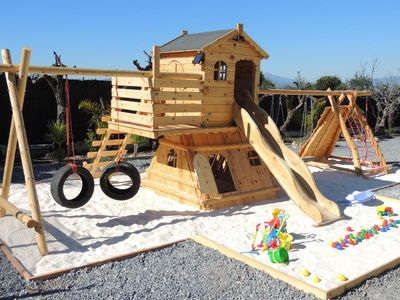 Custom made play house at the Albatros Villa