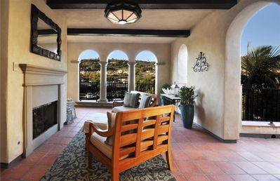 Enter Through Your Own Fireplace Entrance Loggia with Golf Course View