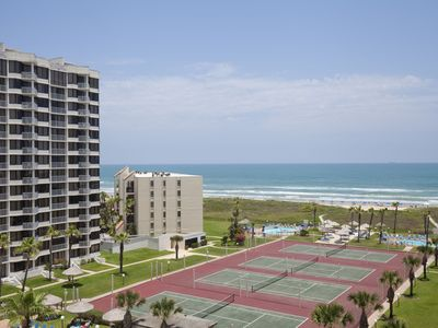 Owner's Special  Beachfront 2 BR/2 BA Condo Sleeps 8, 3 Pools,4 Tennis Courts