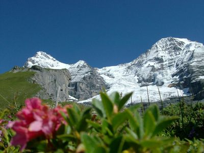 Eiger, Monch and Jungfrau in summer