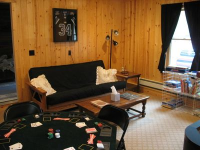 Cheboygan house rental - Double Futon in the Game Room for additional guests.