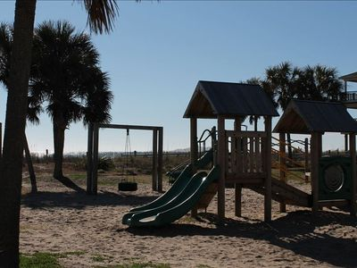 KIDS PLAYGROUND IN FRONT OF BEACH HOUSE