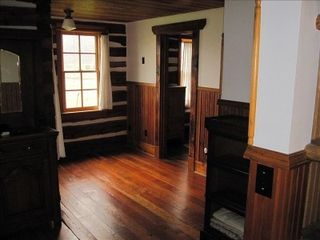 Gardiner cabin photo - upstairs, one of the bedrooms from top of staircase.