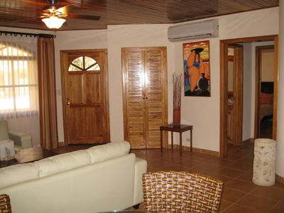 Nosara villa rental - Living Room With Teak Ceilings