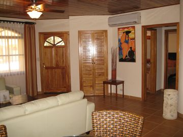 Living Room With Teak Ceilings