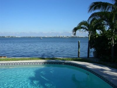 Miami Shores house rental - WOW Waterfront from your VERY Private Pool - Compare THAT to Other Homes!