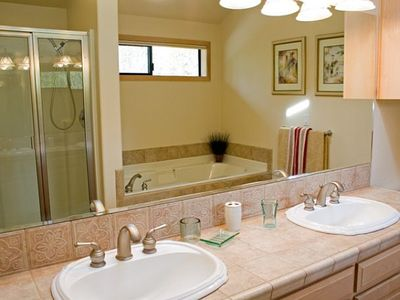 Master Bathroom - Master Bathroom with double sinks, jacuzzi tub and shower.